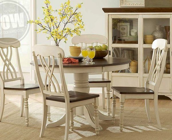 Good Ohana White Dining Table And 4 Side Chairs