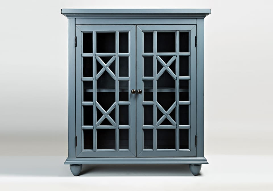 Brighton Park Accent Chest Cornflower Blue Louisville Overstock