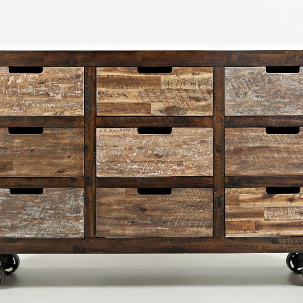 painted canyon 9 drawer accent chest | louisville overstock warehouse