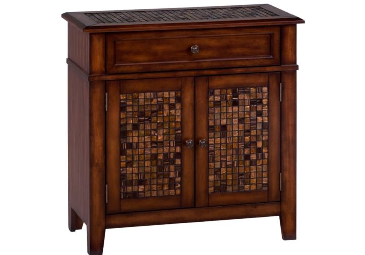 JF-698-13-Baroque-Brown-Accent-Cabinet-With-Mosaic-Tile-Inlay2