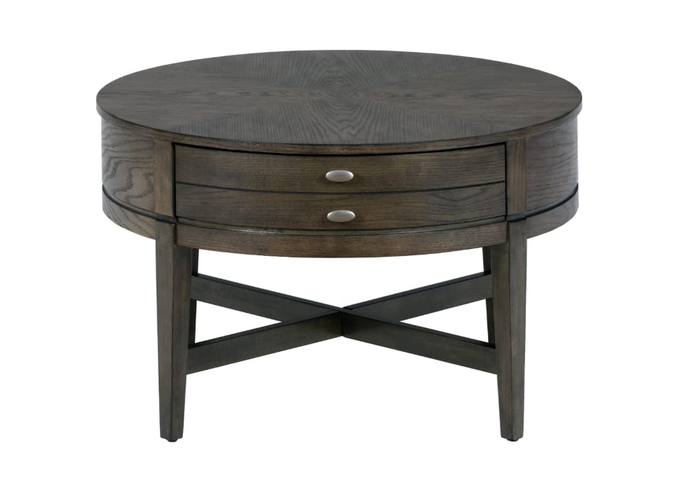 Antique gray 30 round cocktail table louisville Round cocktail table