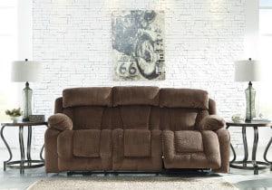 Stricklin Chocolate Reclining Power Sofa