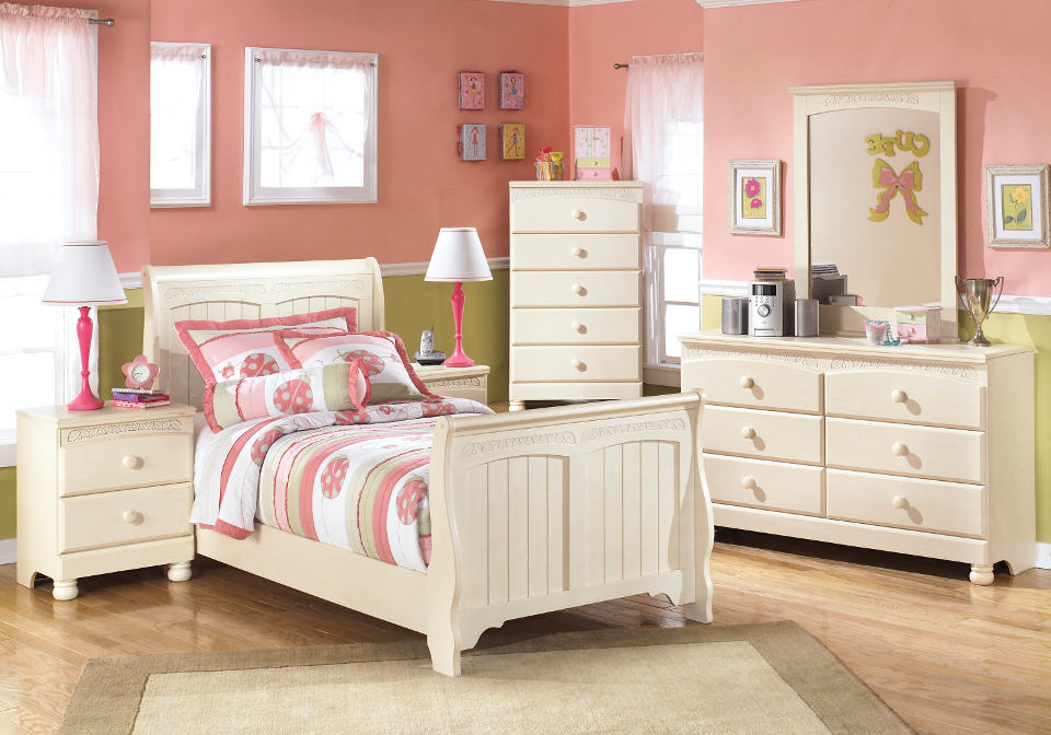 Cottage Retreat Twin Sleigh Bed Set Louisville Overstock Warehouse
