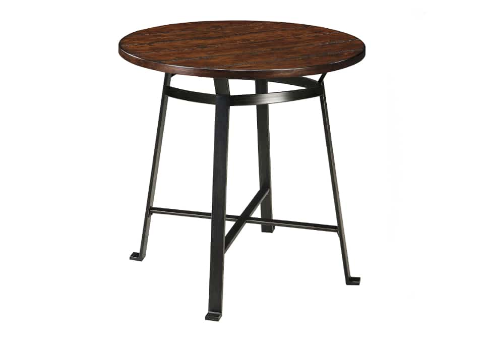 challiman round dining room bar table home shop dining room tables