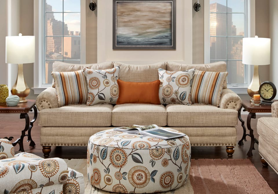 Anna Oatmeal Sofa Louisville Overstock Warehouse