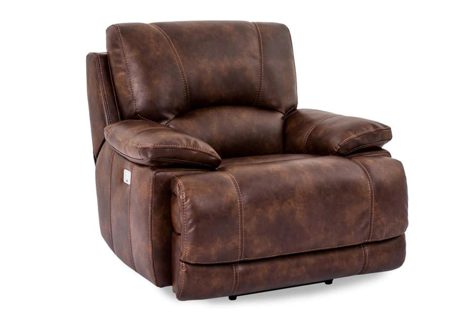 berkshire banner pecan power recliner w power headrest With berkshire recliners
