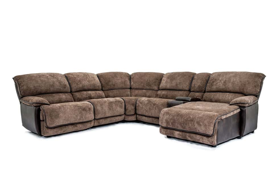 Manwah Furniture Manwah Jedd Dark Brown Microsuede Power Reclining 2piece Sofa Some Wear