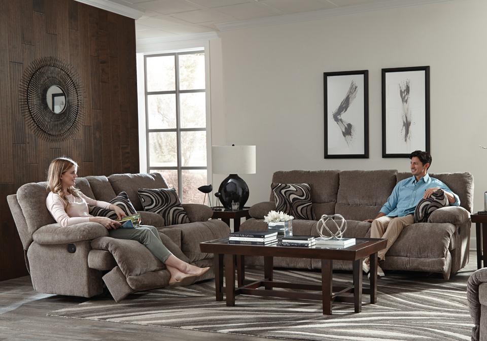 Catnapper Jules Pewter Reclining Sofa Set Louisville
