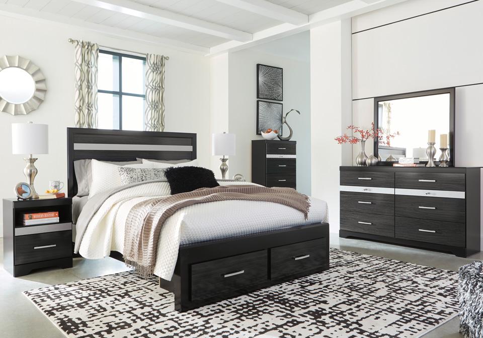 Starberry Black Queen Storage Bedroom Set | Louisville ...