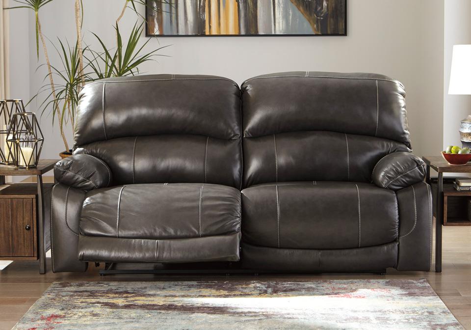 Hallstrung Gray Power 2-Seat Reclining Sofa w/ Adjustable Headrest