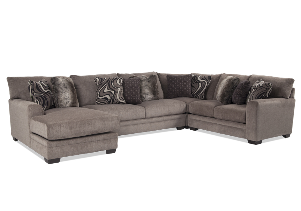 Magnificent Jackson Luxe Pewter 4Pc Laf Sectional Squirreltailoven Fun Painted Chair Ideas Images Squirreltailovenorg