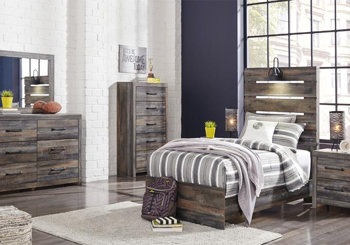 Drystan Multi Twin Panel Bedroom Set   Louisville ...