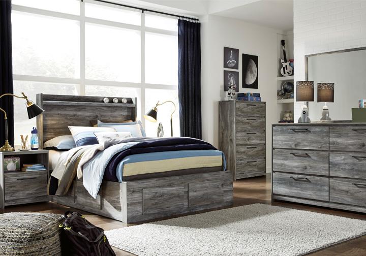 Baystorm Gray Full Panel Storage Bedroom Set   Louisville ...