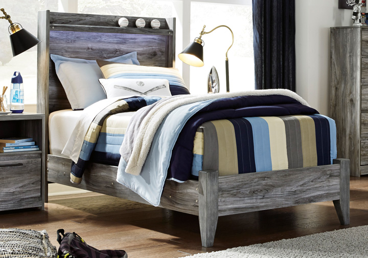 Baystorm Gray Twin Panel Bed Louisville Overstock Warehouse