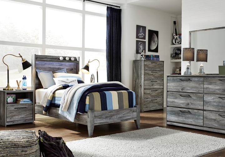 Baystorm Gray Twin Panel Bedroom Set   Louisville ...