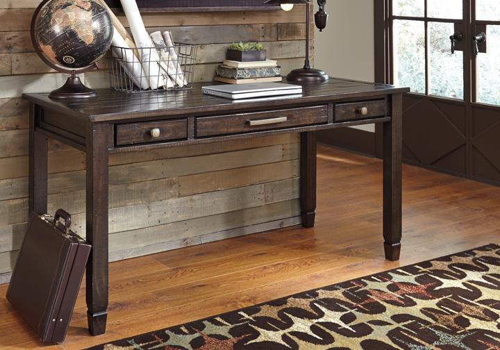 Townser Grayish Brown Desk Set Louisville Overstock