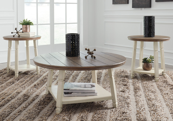 Bolanbrook Two Tone 3pc Occasional Set