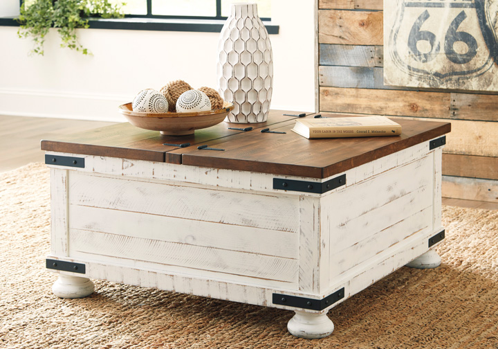 Wystfield Two Tone Storage Tail Table Louisville