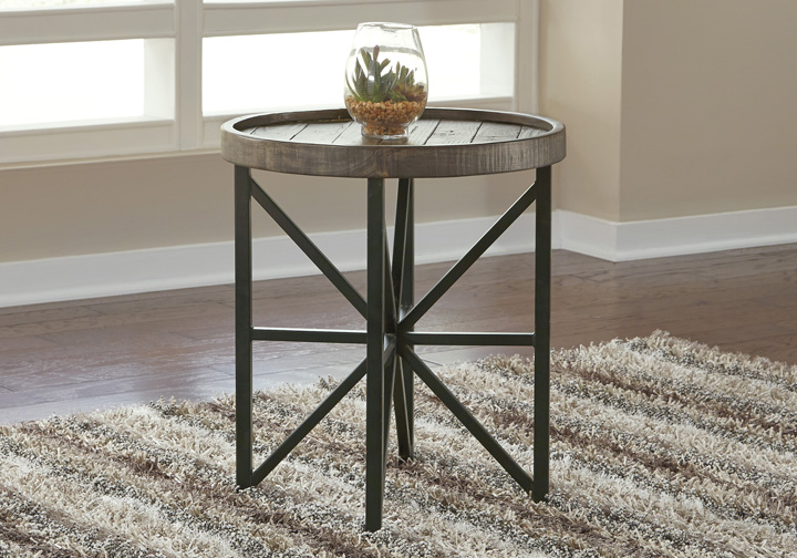 release date: 4fcc9 0dcaf Cazentine Gray Round End Table
