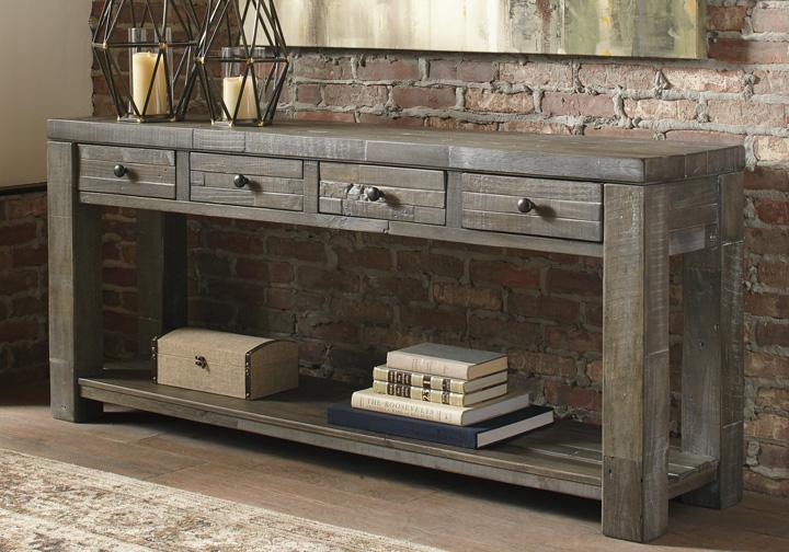 b6bfccae150c5a Daybrook Gray Rectangular Console Table | Louisville Overstock Warehouse