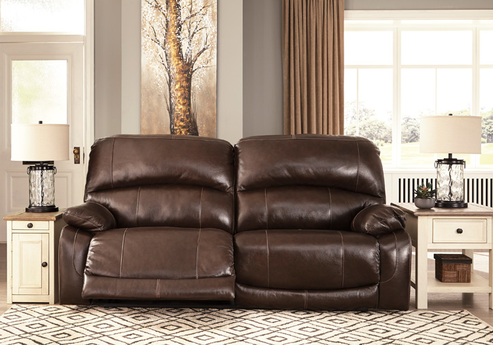 Phenomenal Hallstrung Chocolate Power 2 Seat Reclining Sofa W Adjustable Headrest Creativecarmelina Interior Chair Design Creativecarmelinacom