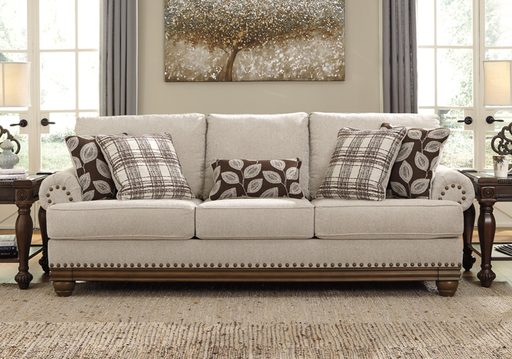 Harleson Wheat Sofa Louisville Overstock Warehouse