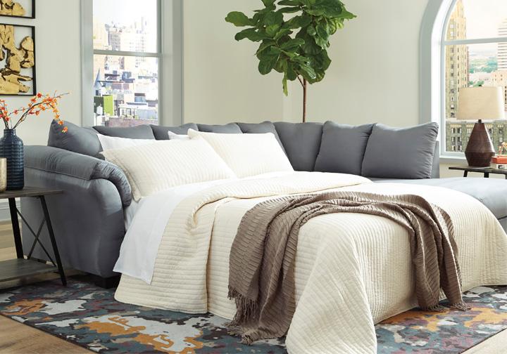 Darcy Steel Full Sleeper Sofa Louisville Overstock Warehouse