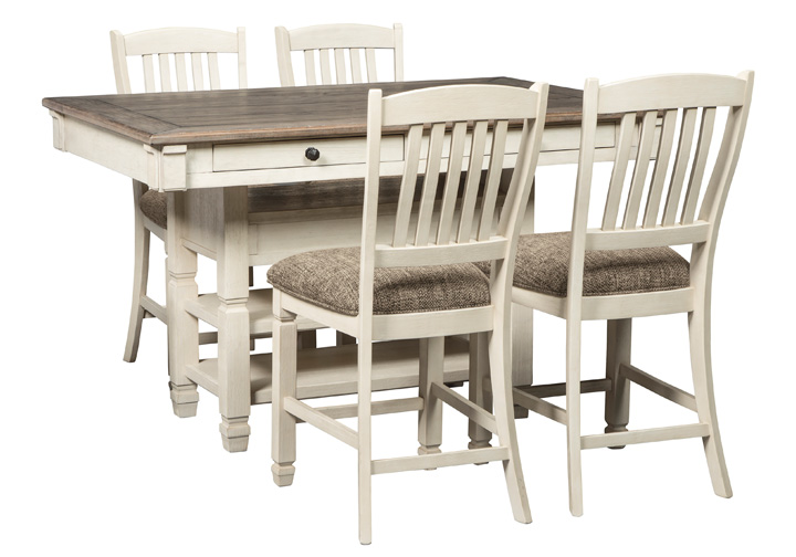Bolanburg Two Tone Brown 5 Pc Counter Height Dining Set