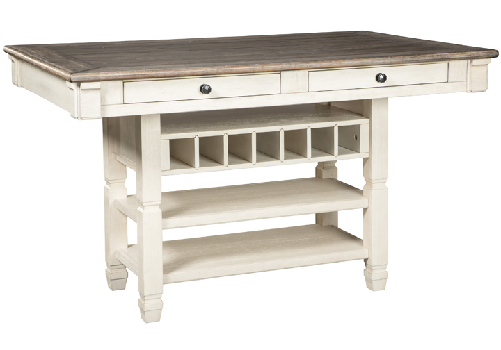 Bolanburg Two Tone Brown Counter Height, Bar Height Table With Storage