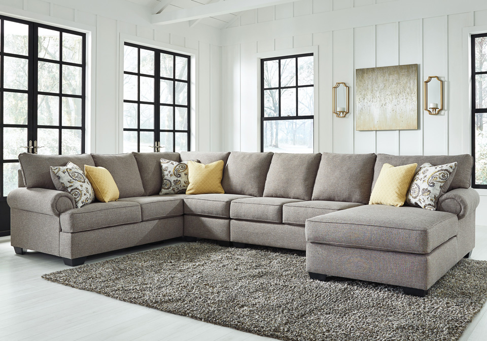 Stupendous Renchen Pewter 4Pc Laf Sofa Sectional Squirreltailoven Fun Painted Chair Ideas Images Squirreltailovenorg