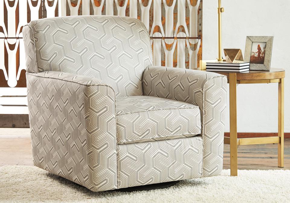Daylon Graphite Swivel Accent Chair | Louisville Overstock ...