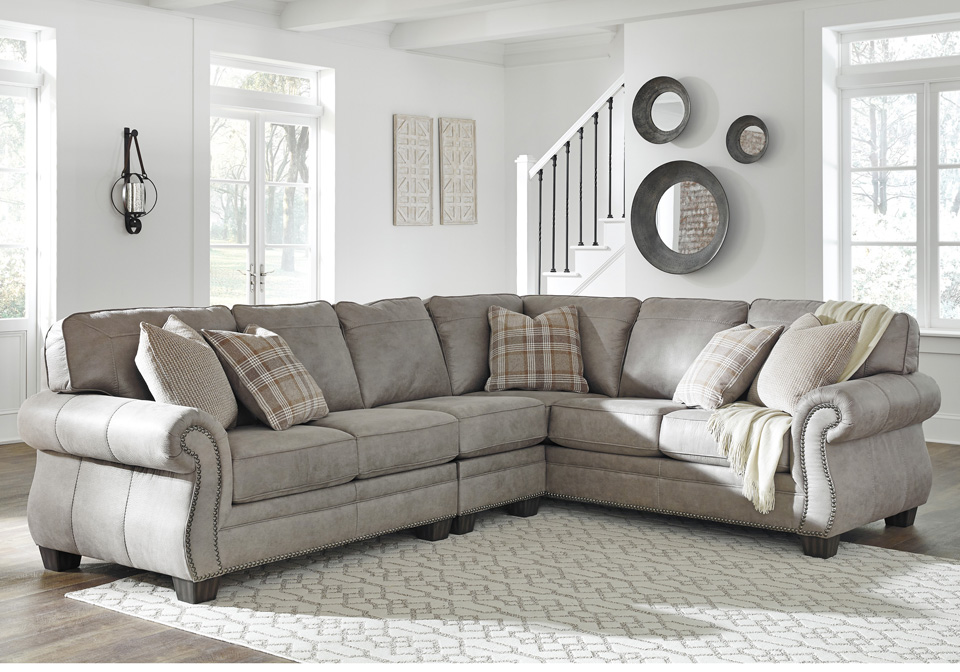Olsberg Steel 3pc Raf Sofa Sectional