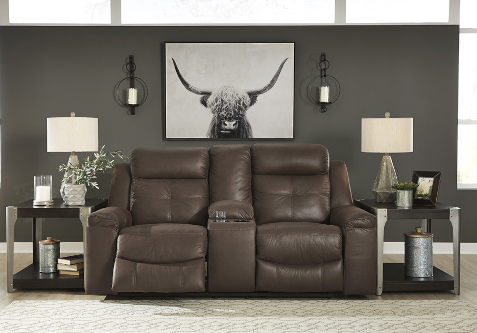 Jesolo Coffee Double Reclining Love Seat W Console