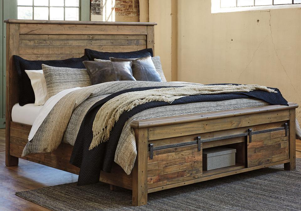 Superb Sommerford Brown King Storage Bed Inzonedesignstudio Interior Chair Design Inzonedesignstudiocom