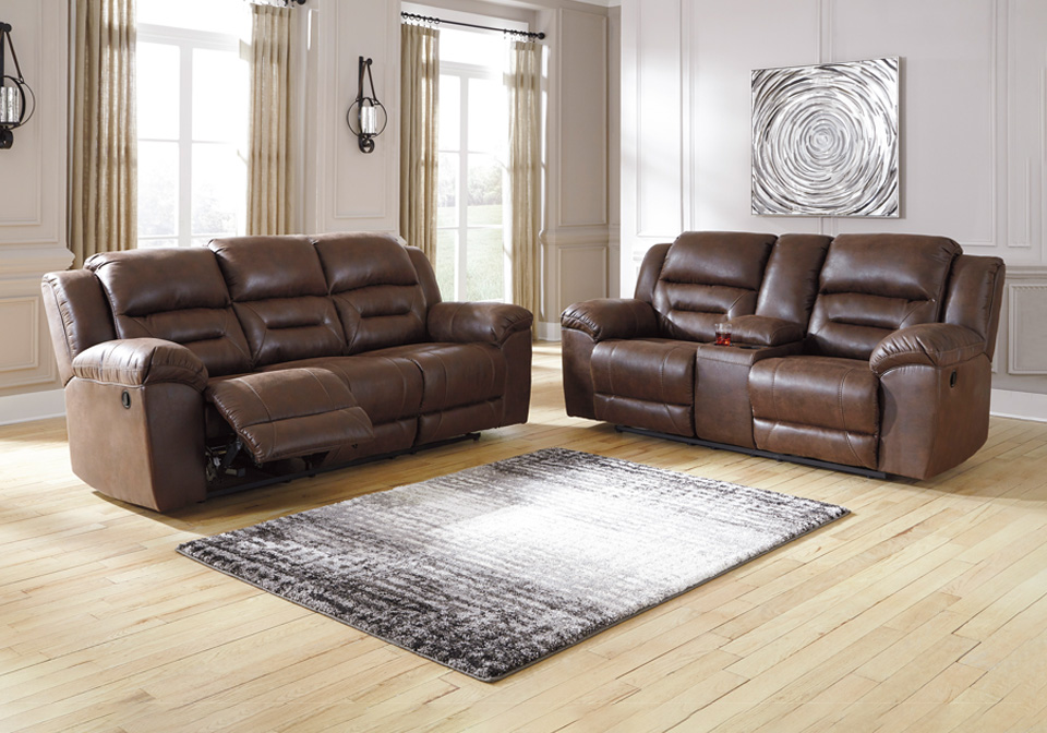 Outstanding Stoneland Chocolate Reclining Sofa Set Ncnpc Chair Design For Home Ncnpcorg