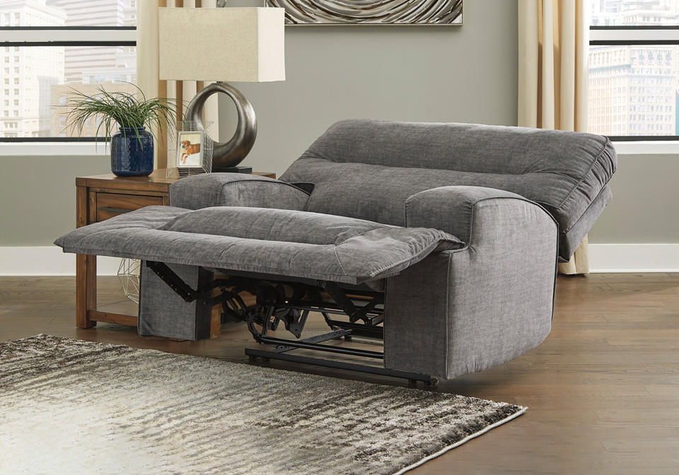 Coombs Charcoal Wide Seat Recliner Louisville Overstock