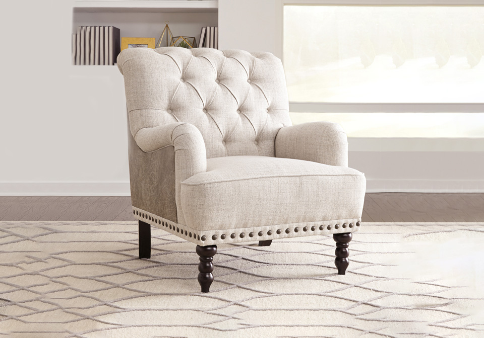 Accent Chairs.Tartonelle Ivory Taupe Accent Chair Louisville Overstock Warehouse