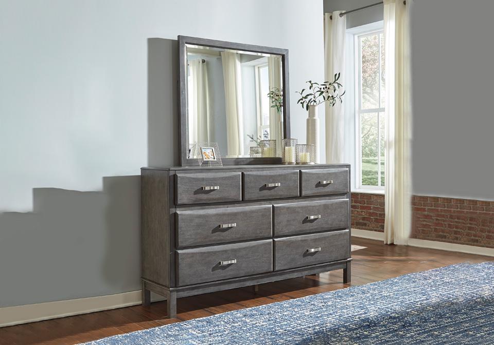 caitbrook gray queen storage bedroom set  louisville