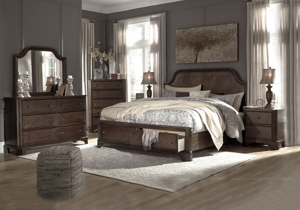 Fabulous Adinton Brown Queen Panel Storage Bedroom Set Inzonedesignstudio Interior Chair Design Inzonedesignstudiocom