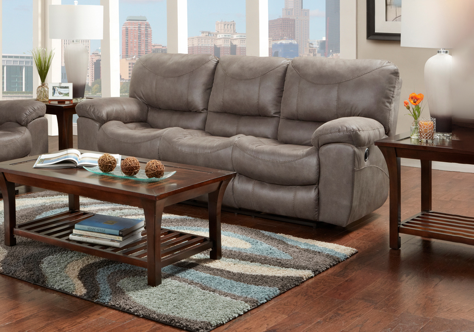 Trent Charcoal Power Reclining Sofa Louisville Overstock