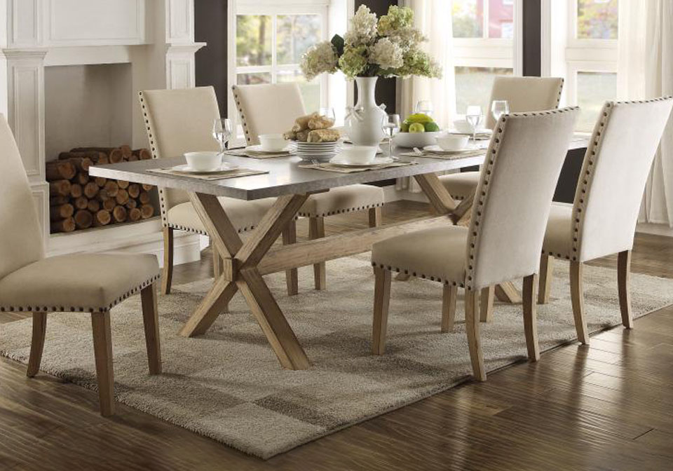 Luella Two Tone Dining Table