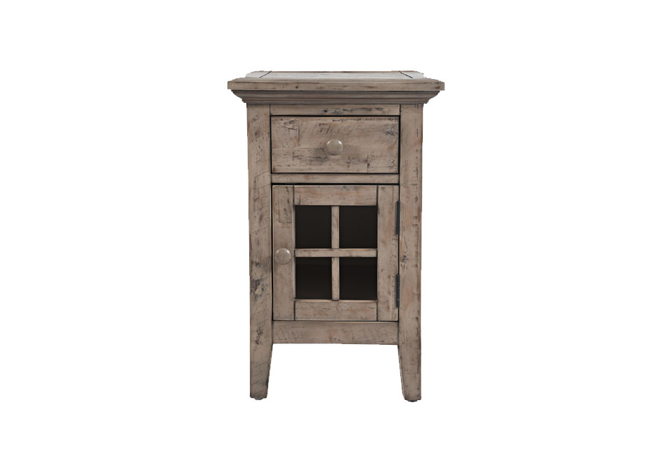 Rustic Shores Weathered Gray Chairside End Table Louisville