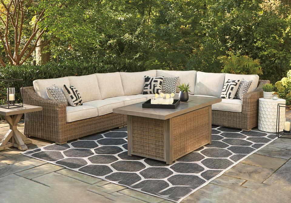 Beachcroft Beige 3pc Patio Set   Louisville Overstock ... on Beachcroft Beige Outdoor Living Room Set id=37873